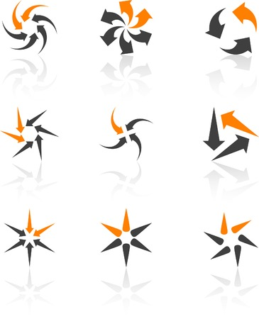 Abstract company symbols. Vector illustration. Stock Vector - 5384442