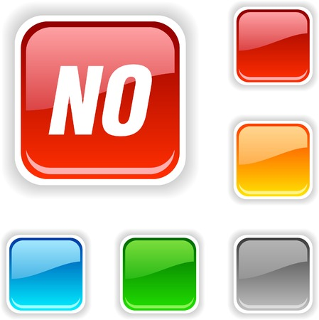 No  square button. Used blends. Stock Vector - 5396225