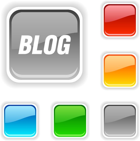 blends: Blog  square button. Used blends.