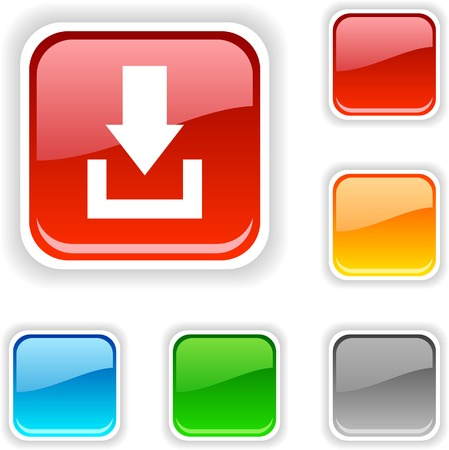 Download  square button. Used blends.  Vector
