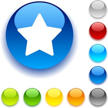 Star shiny button. Vector illustration. Stock Vector - 5426519