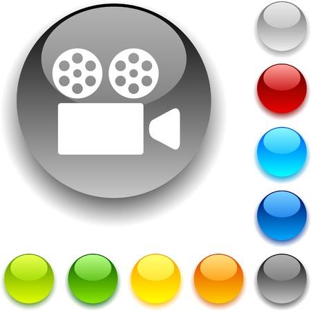 Cinema  shiny button. Vector illustration. Stock Vector - 5426523