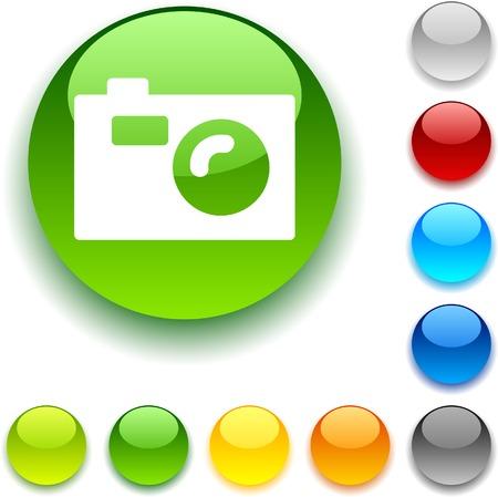 luninous: Photo shiny button. Vector illustration.  Illustration