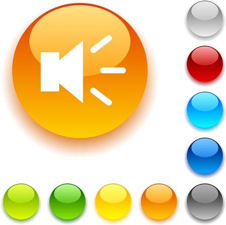 Sound  shiny button. Vector illustration. Stock Vector - 5426520