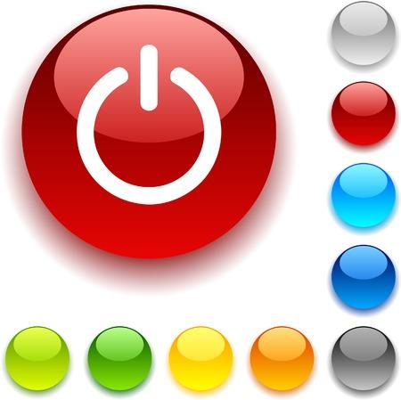 luninous: Switch  shiny button. Vector illustration.  Illustration