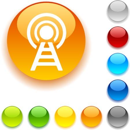 luninous: Communication  shiny button. Vector illustration.  Illustration
