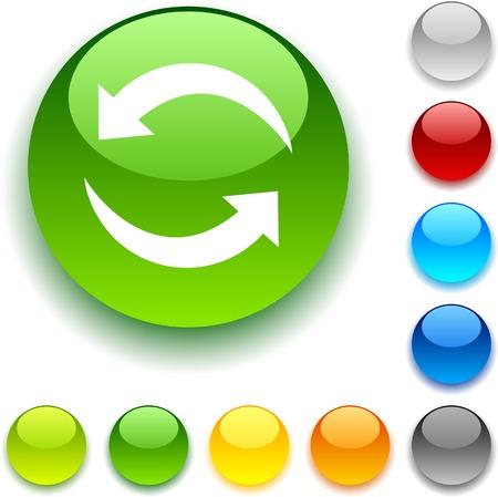 refrescarse: Botón Actualizar brillante. Ilustración del vector.