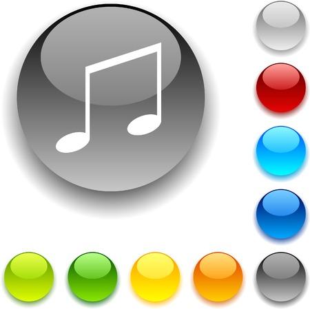 luninous: Music shiny button. Vector illustration.  Illustration