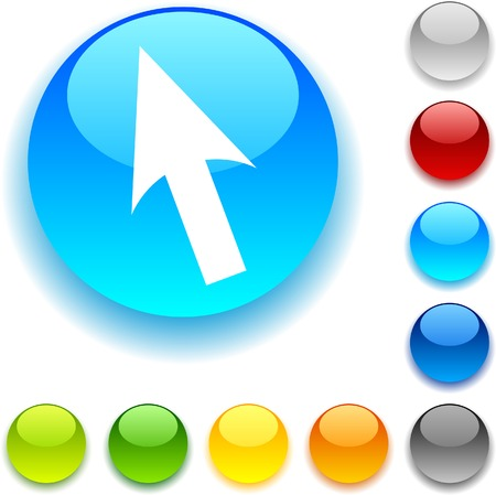 Cursor  shiny button. Vector illustration.  Vector