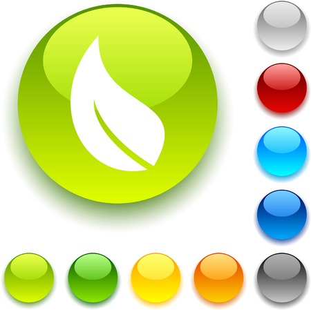 Ecology  shiny button. Vector illustration. Stock Vector - 5436344