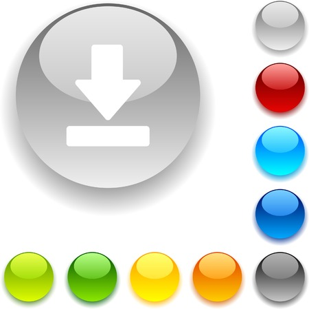 luninous: Download shiny button. Vector illustration.