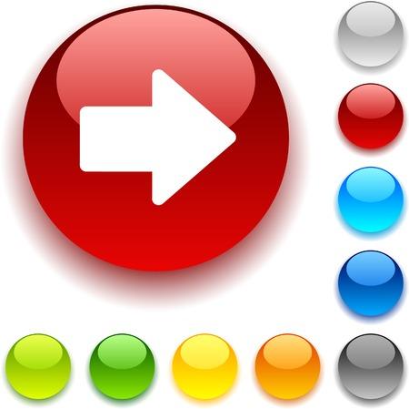 Arrow shiny button. Vector illustration. Stock Vector - 5436329