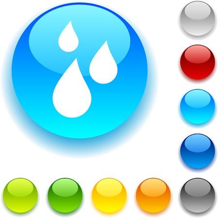 luninous: Rain shiny button. Vector illustration.  Illustration