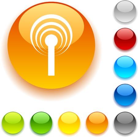 luninous:  Radio shiny button. Vector illustration.  Illustration