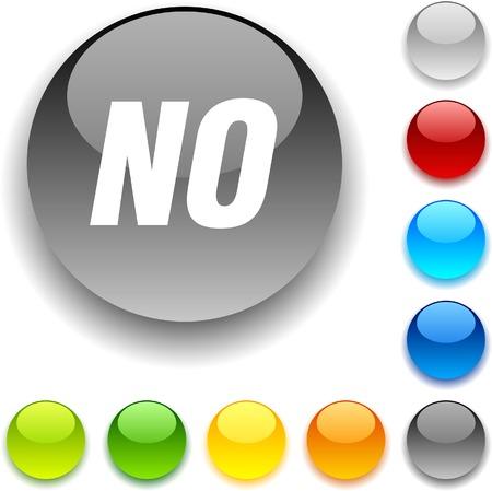 No shiny button. Vector illustration. Stock Vector - 5457957