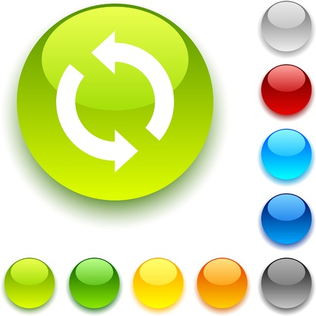 Refresh shiny button. Vector illustration.  Stock Vector - 5457953