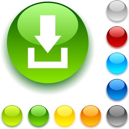 luninous:  Download shiny button. Vector illustration.  Illustration