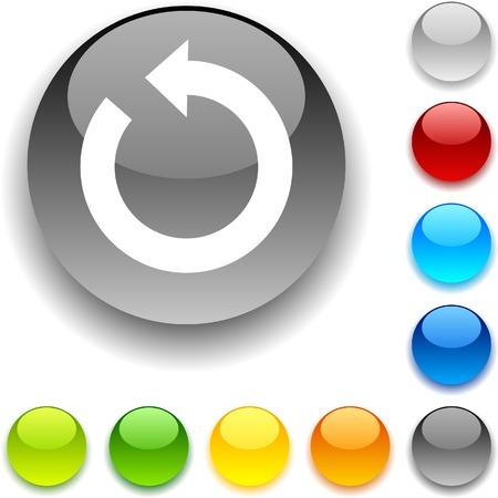 luninous:  Refresh shiny button. Vector illustration.