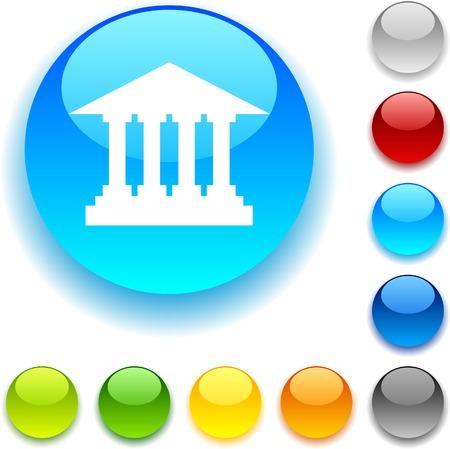 luninous:  Exchange shiny button. Vector illustration.  Illustration
