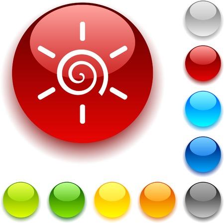 bouton brillant: Dim. bouton brillant. Vector illustration.