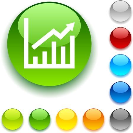 growth shiny button. Vector illustration. Stock Vector - 5457970