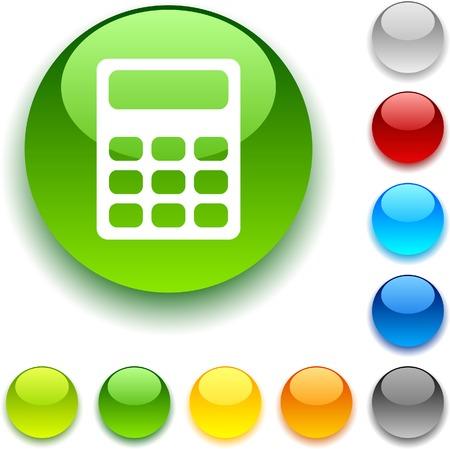 bouton brillant: Calculer le bouton brillant. Vector illustration. Illustration