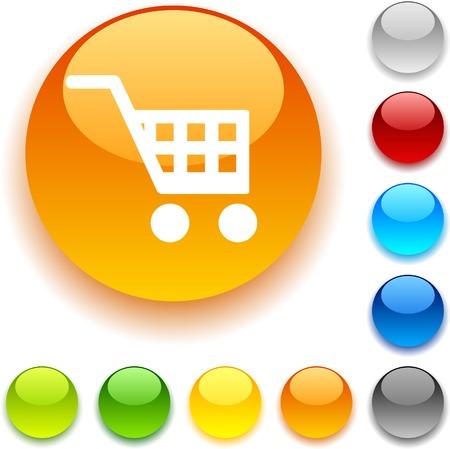Buy shiny button. Vector illustration. Stock Vector - 5457978