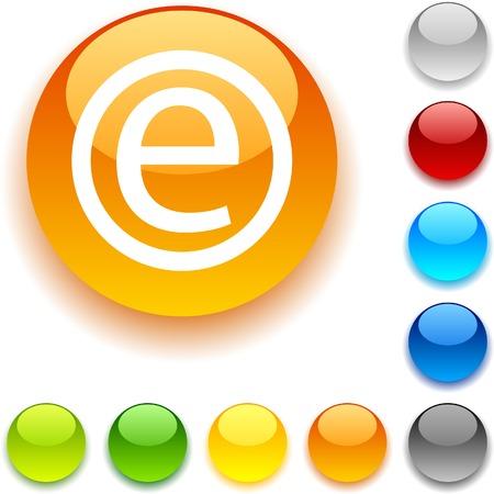 luninous:  Enternet shiny button. Vector illustration.