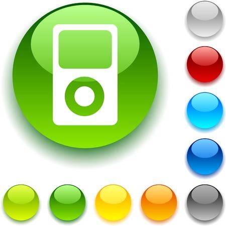 luninous: Media shiny button. Vector illustration.  Illustration