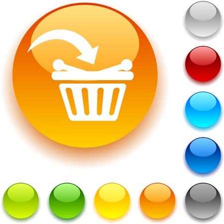 Buy shiny button. Vector illustration. Stock Vector - 5457982