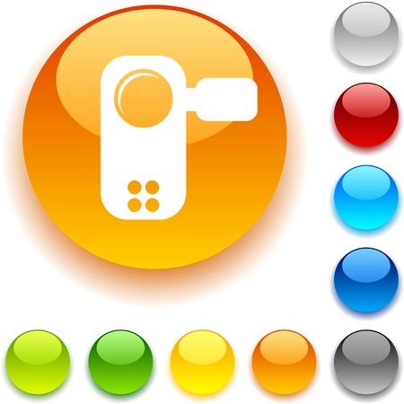 luninous:  Video shiny button. Vector illustration.