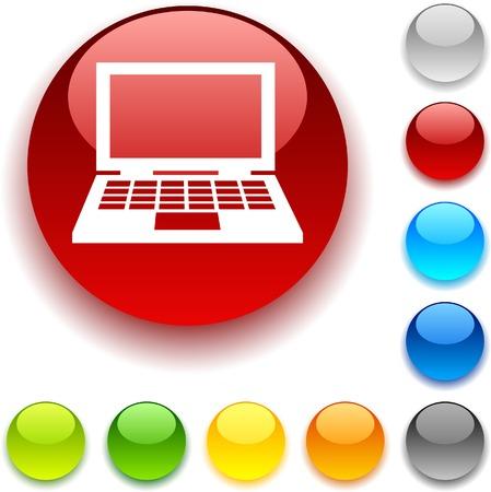 bouton brillant: D�bat du bouton brillant. Vector illustration.