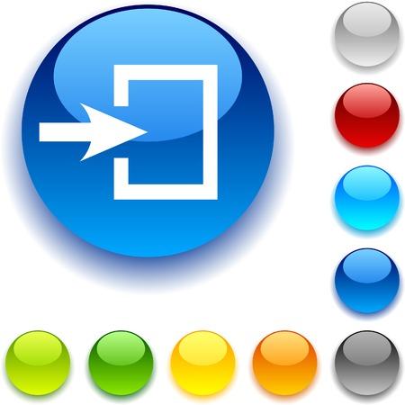 bouton brillant: Entr�e bouton brillant. Vector illustration. Illustration