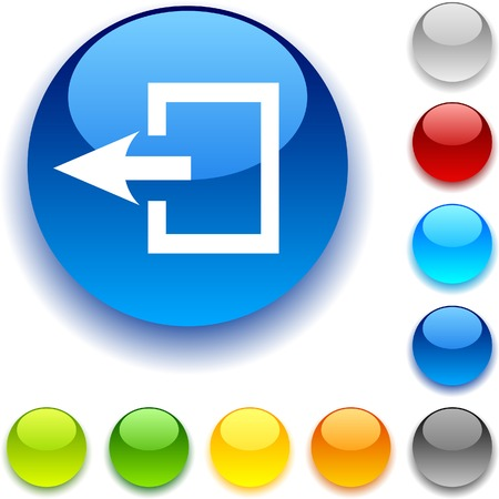 luninous:  Exit shiny button. Vector illustration.  Illustration