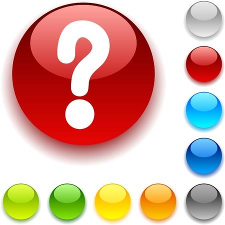 Question shiny button. Vector illustration. Stock Vector - 5467414