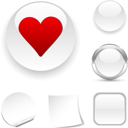 Love  white icon. Vector illustration.  Vector