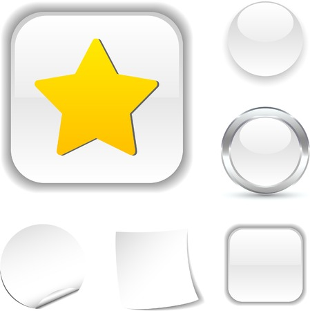 Star  white icon. Vector illustration.  Vector