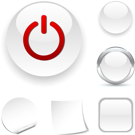 Switch white icon. Vector illustration.  Vector