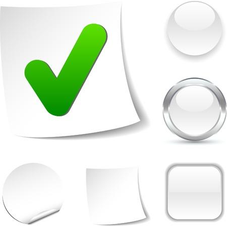 Check white icon. Vector illustration. Stock Vector - 5479008