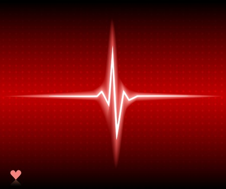 Red heart bear. Vector illustration.  Vector