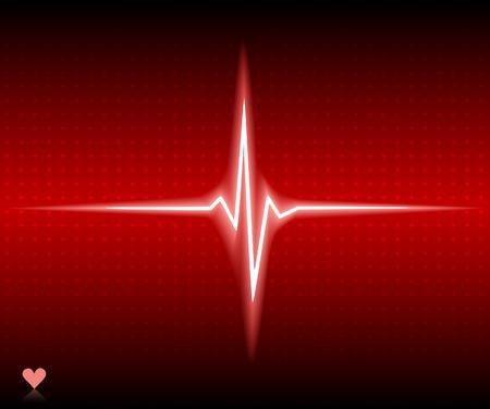 Red heart bear. Vector illustration. Stock Vector - 5493728