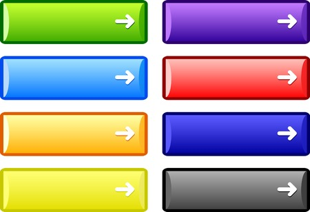 vector buttons: Web shiny buttons. Vector illustration.  Illustration