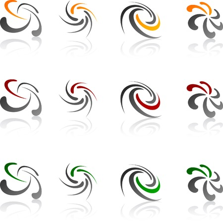 Abstract company symbols. Vector illustration. Stock Vector - 5493722