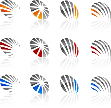 Abstract company symbols. Vector illustration. Vector