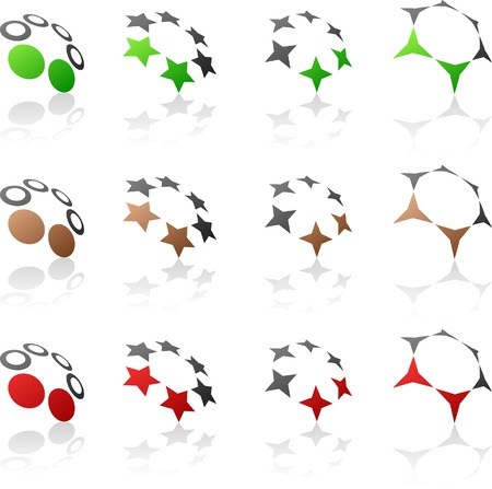 Abstract company symbols. Vector illustration. Stock Vector - 5493724