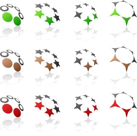 Abstract company symbols. Vector illustration. Vector