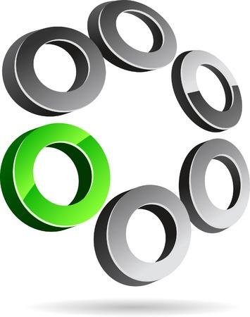 Abstract company symbol. Vector illustration. Vector