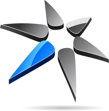 Abstract company symbol. Vector illustration. Stock Vector - 5493695