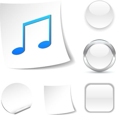 Music white icon. Vector illustration. Stock Vector - 5493707