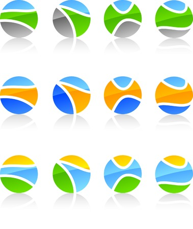 Abstract nature symbols. Vector illustration. Stock Vector - 5502003